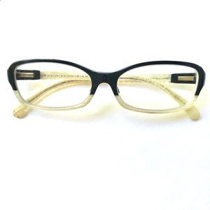 Chanel Two-Tone Black + Ivory Eyeglasses